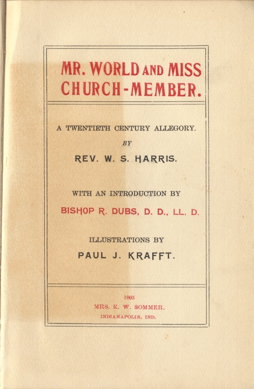 Mr. World and Miss Church Member, K. W. Sommer edition title page
