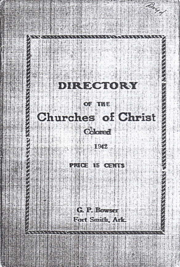 1942 Directory of the Churches of Christ Colored, cover