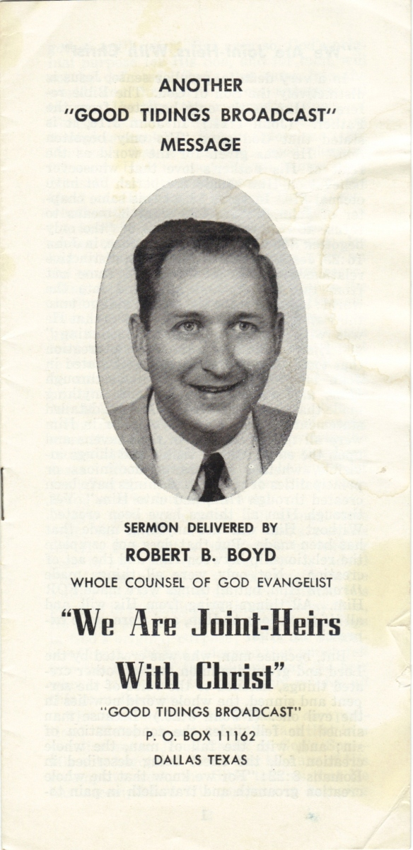 Boyd, Robert B., Joint-Heirs, front cover