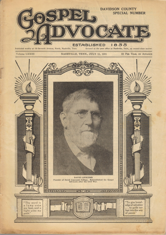 Nashville_Research_GospelAdvocate_1931_July11_cover