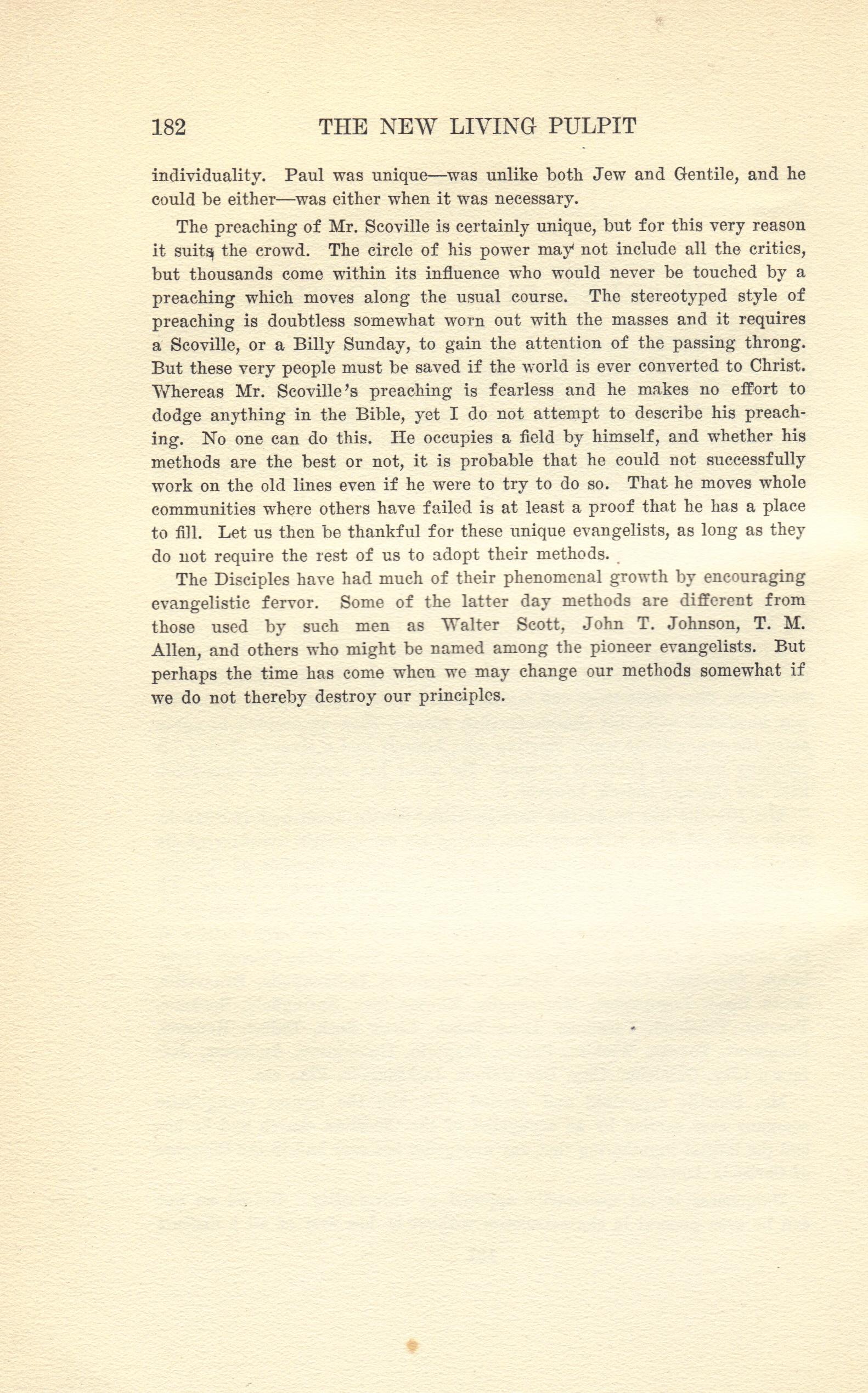 Scoville_LivingPulpit_1918_biosketch_2